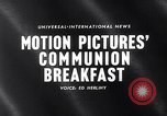 Image of traditional Communion Breakfast New York City USA, 1960, second 4 stock footage video 65675036768