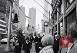Image of People on streets of Chicago in 1960s Chicago Illinois USA, 1965, second 3 stock footage video 65675036783