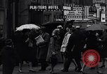Image of People on streets of Chicago in 1960s Chicago Illinois USA, 1965, second 12 stock footage video 65675036783