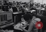 Image of Clerks process customer telephone orders in a large Chicago office Chicago Illinois USA, 1965, second 6 stock footage video 65675036792