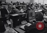 Image of Clerks process customer telephone orders in a large Chicago office Chicago Illinois USA, 1965, second 9 stock footage video 65675036792