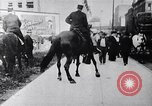 Image of Mounted police break up workers gathering Chicago United States USA, 1910, second 10 stock footage video 65675036804