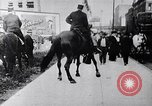 Image of Mounted police break up workers gathering Chicago United States USA, 1910, second 11 stock footage video 65675036804