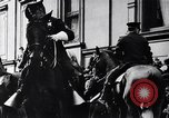 Image of Mounted police break up workers gathering Chicago United States USA, 1910, second 12 stock footage video 65675036804
