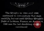 Image of First public demonstration of Wright Brothers airplane Le Mans France, 1908, second 1 stock footage video 65675036820