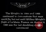 Image of First public demonstration of Wright Brothers airplane Le Mans France, 1908, second 4 stock footage video 65675036820