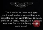 Image of First public demonstration of Wright Brothers airplane Le Mans France, 1908, second 5 stock footage video 65675036820