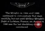 Image of First public demonstration of Wright Brothers airplane Le Mans France, 1908, second 11 stock footage video 65675036820