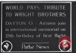 Image of 25th anniversary of first powered flight Dayton Ohio USA, 1928, second 1 stock footage video 65675036856