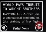 Image of 25th anniversary of first powered flight Dayton Ohio USA, 1928, second 3 stock footage video 65675036856