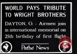 Image of 25th anniversary of first powered flight Dayton Ohio USA, 1928, second 6 stock footage video 65675036856