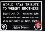 Image of 25th anniversary of first powered flight Dayton Ohio USA, 1928, second 7 stock footage video 65675036856