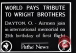 Image of 25th anniversary of first powered flight Dayton Ohio USA, 1928, second 8 stock footage video 65675036856