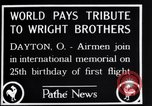 Image of 25th anniversary of first powered flight Dayton Ohio USA, 1928, second 9 stock footage video 65675036856