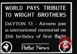 Image of 25th anniversary of first powered flight Dayton Ohio USA, 1928, second 10 stock footage video 65675036856