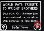 Image of 25th anniversary of first powered flight Dayton Ohio USA, 1928, second 11 stock footage video 65675036856