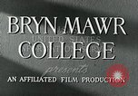 Image of Bryn Mawr College Philadelphia Pennsylvania USA, 1948, second 7 stock footage video 65675036899
