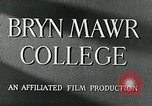 Image of Bryn Mawr College Philadelphia Pennsylvania, 1948, second 8 stock footage video 65675036899