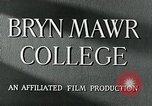 Image of Bryn Mawr College Philadelphia Pennsylvania USA, 1948, second 11 stock footage video 65675036899