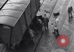 Image of loading a railway rolling stock United Kingdom, 1943, second 4 stock footage video 65675036995