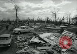 Image of destroyed town by tornado Michigan United States USA, 1964, second 4 stock footage video 65675037038