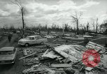 Image of destroyed town by tornado Michigan United States USA, 1964, second 5 stock footage video 65675037038