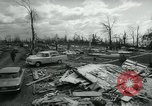 Image of destroyed town by tornado Michigan United States USA, 1964, second 6 stock footage video 65675037038