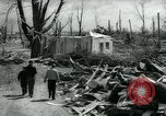 Image of destroyed town by tornado Michigan United States USA, 1964, second 7 stock footage video 65675037038