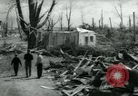 Image of destroyed town by tornado Michigan United States USA, 1964, second 9 stock footage video 65675037038