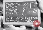 Image of Japanese Registration Control Station San Francisco California USA, 1942, second 1 stock footage video 65675037093