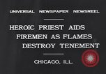 Image of fire on building Chicago Illinois USA, 1931, second 5 stock footage video 65675037102