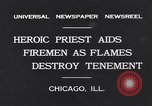 Image of fire on building Chicago Illinois USA, 1931, second 7 stock footage video 65675037102