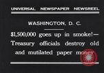 Image of mutilated paper money destroyed Washington DC USA, 1931, second 2 stock footage video 65675037104