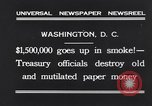 Image of mutilated paper money destroyed Washington DC USA, 1931, second 4 stock footage video 65675037104