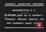 Image of mutilated paper money destroyed Washington DC USA, 1931, second 5 stock footage video 65675037104