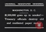 Image of mutilated paper money destroyed Washington DC USA, 1931, second 6 stock footage video 65675037104
