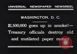 Image of mutilated paper money destroyed Washington DC USA, 1931, second 8 stock footage video 65675037104