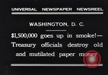 Image of mutilated paper money destroyed Washington DC USA, 1931, second 9 stock footage video 65675037104