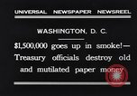 Image of mutilated paper money destroyed Washington DC USA, 1931, second 10 stock footage video 65675037104