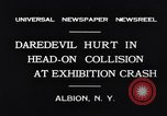 Image of head on car collision drivers playing chicken Albion New York USA, 1931, second 6 stock footage video 65675037106