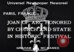 Image of Joan of Arc honored Paris France, 1933, second 2 stock footage video 65675037108