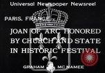 Image of Joan of Arc honored Paris France, 1933, second 3 stock footage video 65675037108