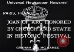 Image of Joan of Arc honored Paris France, 1933, second 4 stock footage video 65675037108
