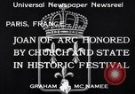 Image of Joan of Arc honored Paris France, 1933, second 5 stock footage video 65675037108