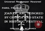 Image of Joan of Arc honored Paris France, 1933, second 6 stock footage video 65675037108