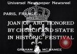 Image of Joan of Arc honored Paris France, 1933, second 7 stock footage video 65675037108