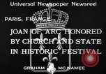 Image of Joan of Arc honored Paris France, 1933, second 8 stock footage video 65675037108