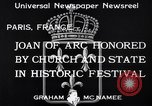 Image of Joan of Arc honored Paris France, 1933, second 9 stock footage video 65675037108