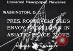 Image of Japanese envoy at White House Washington DC USA, 1933, second 1 stock footage video 65675037112