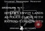 Image of demonstrating communists Brooklyn New York City USA, 1933, second 1 stock footage video 65675037113